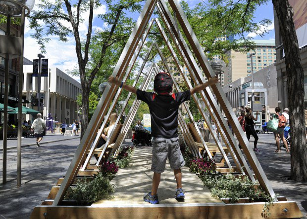 This interactive sculpture on 16th st. mall in Denver could become a permanent fixture