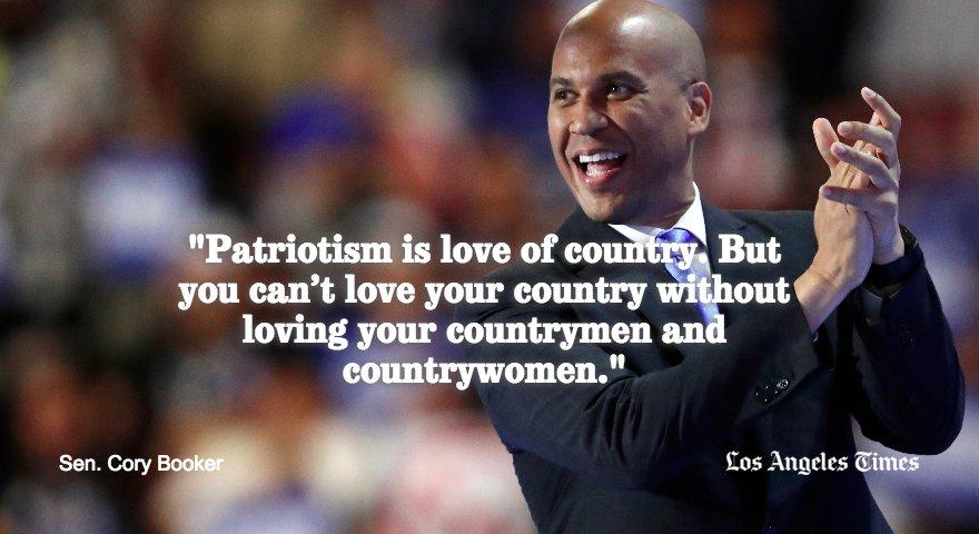 Cory Booker on patriotism