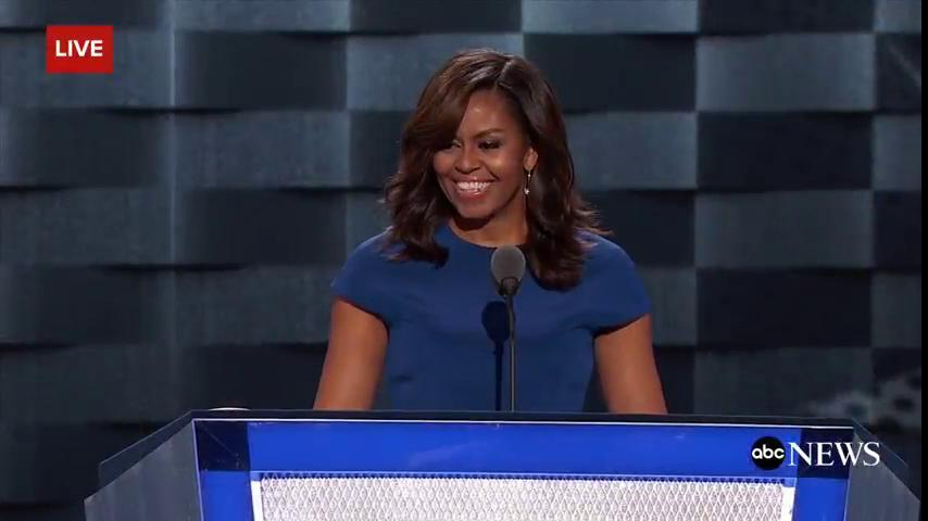 MichelleObama says HillaryClinton never buckles under pressure: