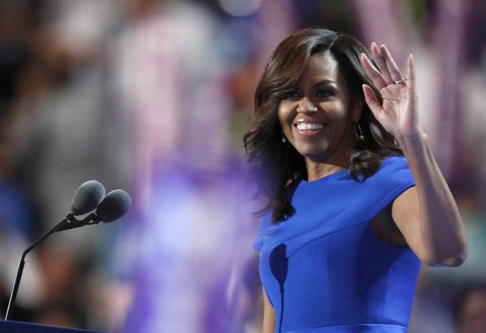 First lady calls out Trump, 'hateful language' DemsInPhilly DNCinPHL