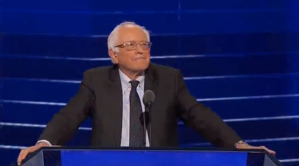 BernieSanders takes the stage at the DNC: DemsInPhilly