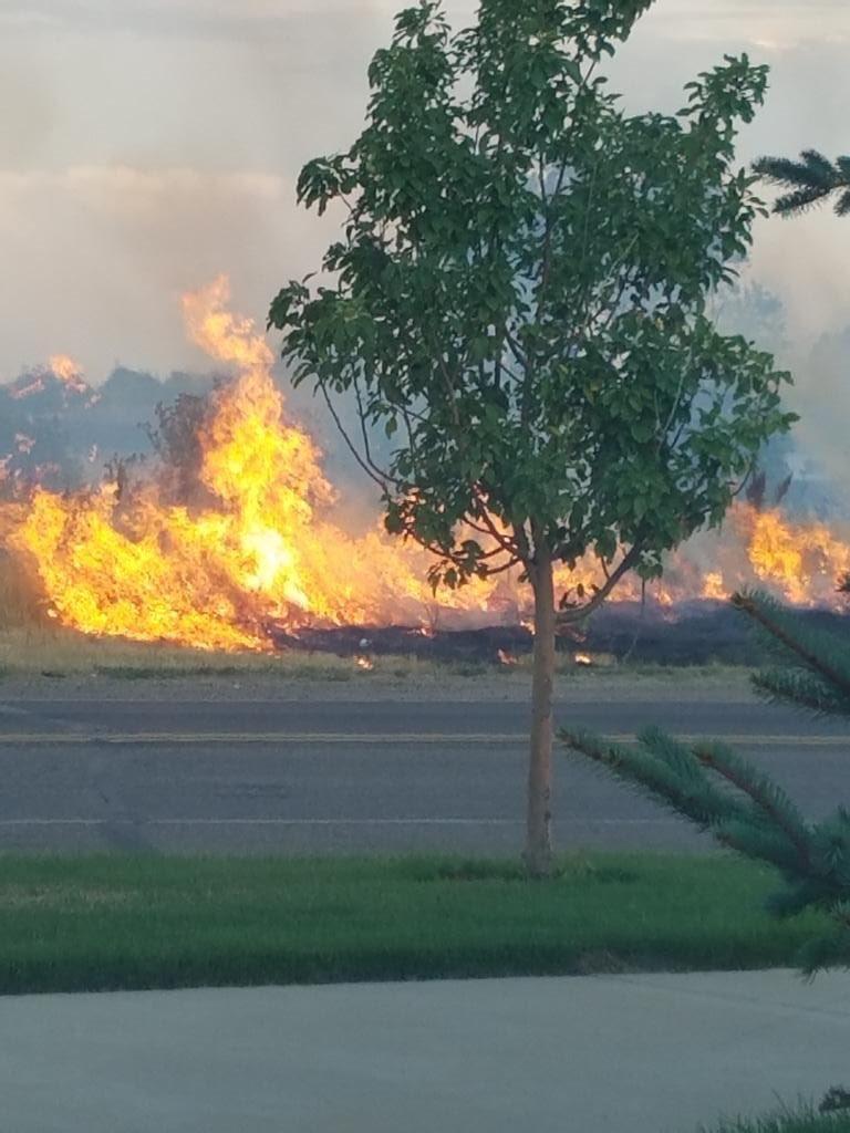 TFD worked large field fire w/ @NMFirePIO & @adamscountyfire. Fire burned across 10 acres | cause unknown.