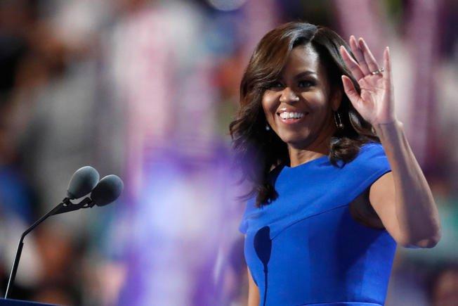 Michelle Obama wears American designer Christian Siriano