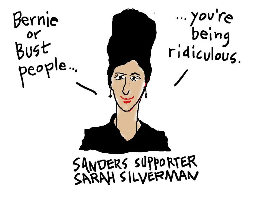 Sarah Silverman at DemsinPhilly, as sketched by @GlobeWasserman