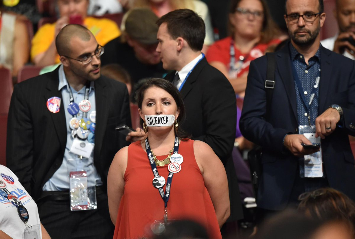 Bernie Sanders supporters showed a range of emotions during the convention Monday.