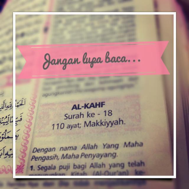 [2] Membaca Surah AlKahfi #JumatBerkah https://t.co/OUBngODc4u