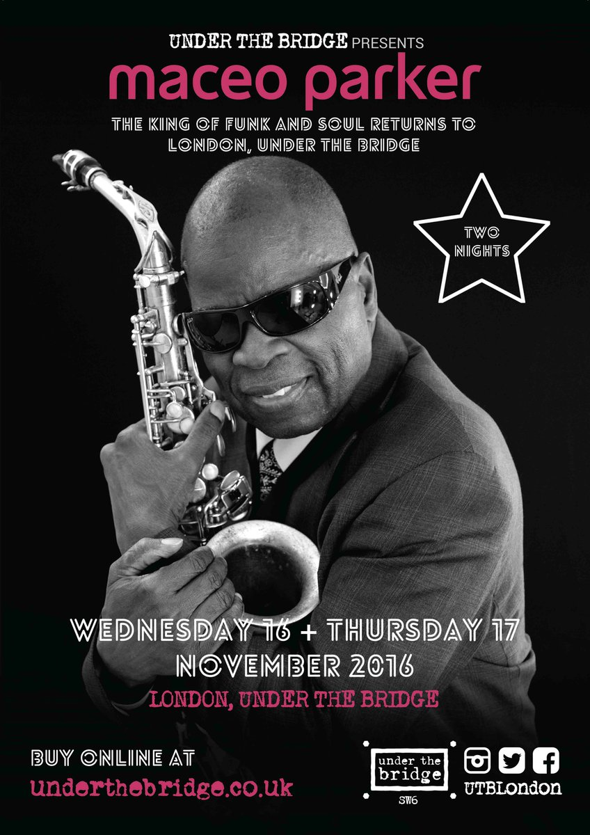JUST ANNOUNCED! Maceo Parker is back for two funktastic nights: WED 16 + THU 17 NOV 2016! https://t.co/GV2zW8OWBf https://t.co/Mom2yCqM0y
