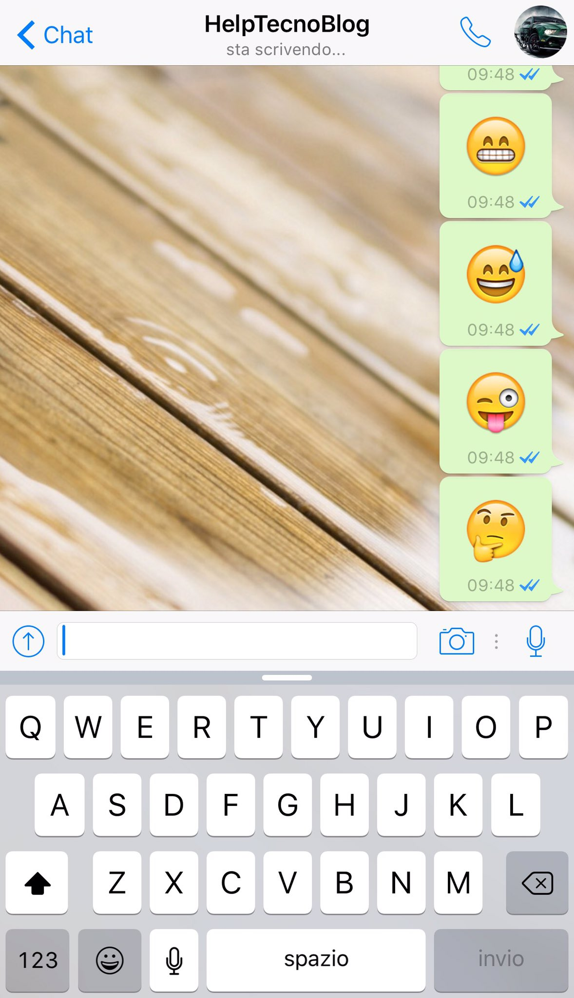 Emoji grandi su Whatsapp