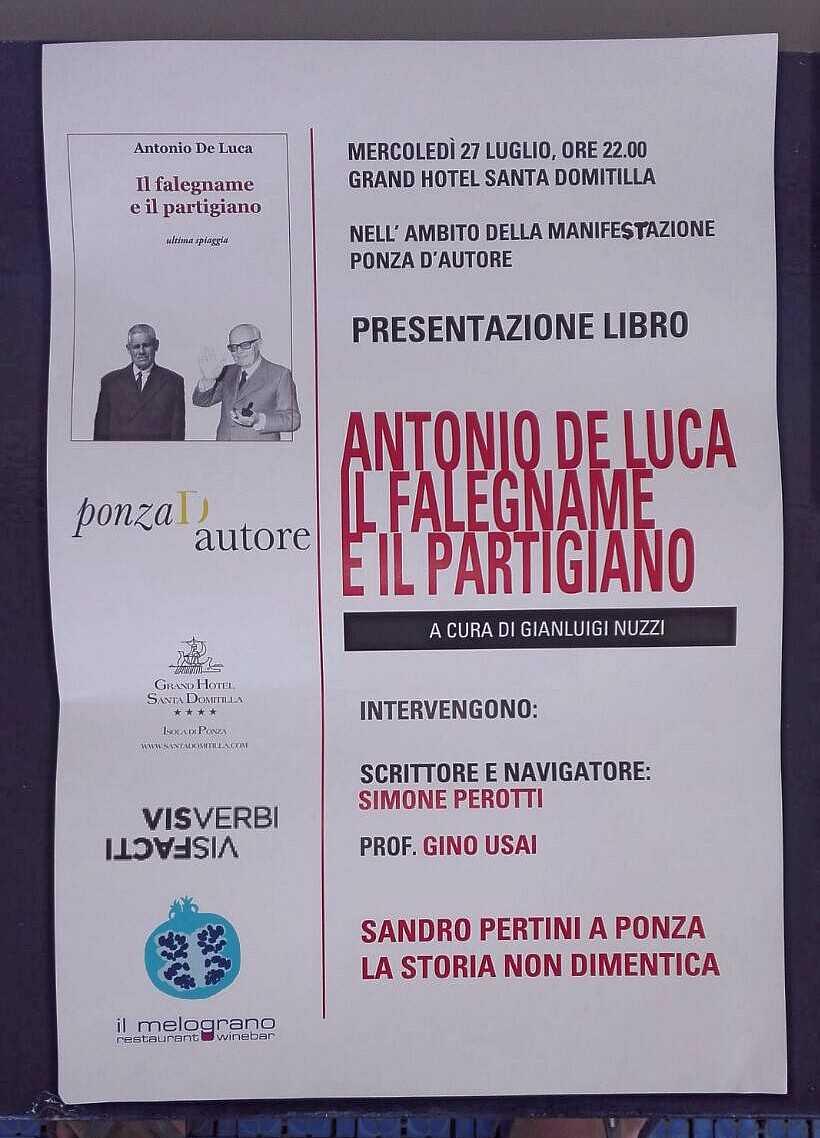 Domani sera a Ponza, con Nuzzi e De Luca. A parlare di uomini liberi... https://t.co/HDZaPSkgEw