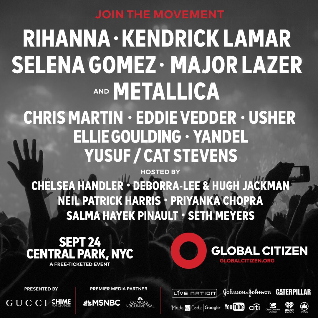 ANNOUCING THE LINEUP FOR THE 2016 GLOBAL CITIZEN FESTIVAL ⭕️ #GCFestival https://t.co/LxWdYUCaH2