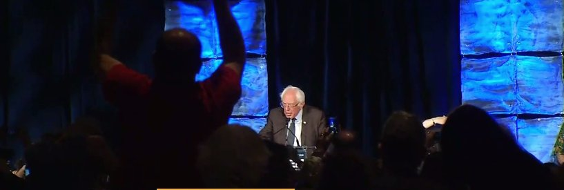 LIVE NOW: BernieSanders makes a surprise appearance: