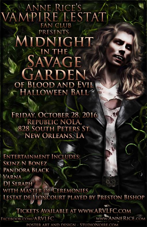 Anne Rice/'s Vampire Lestat Ball Poster 2015
