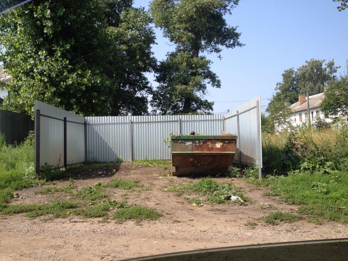 контейнерная площадка для сбора мусора образец схема