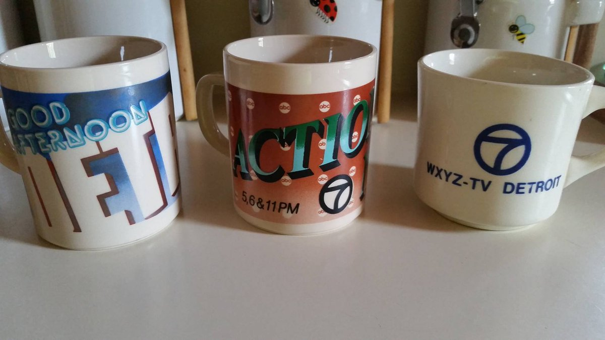 COFFEE CLINKS: Check out these vintage WXYZ mugs. A viewer sent us pic after snagging them at a market. EarlyRisers