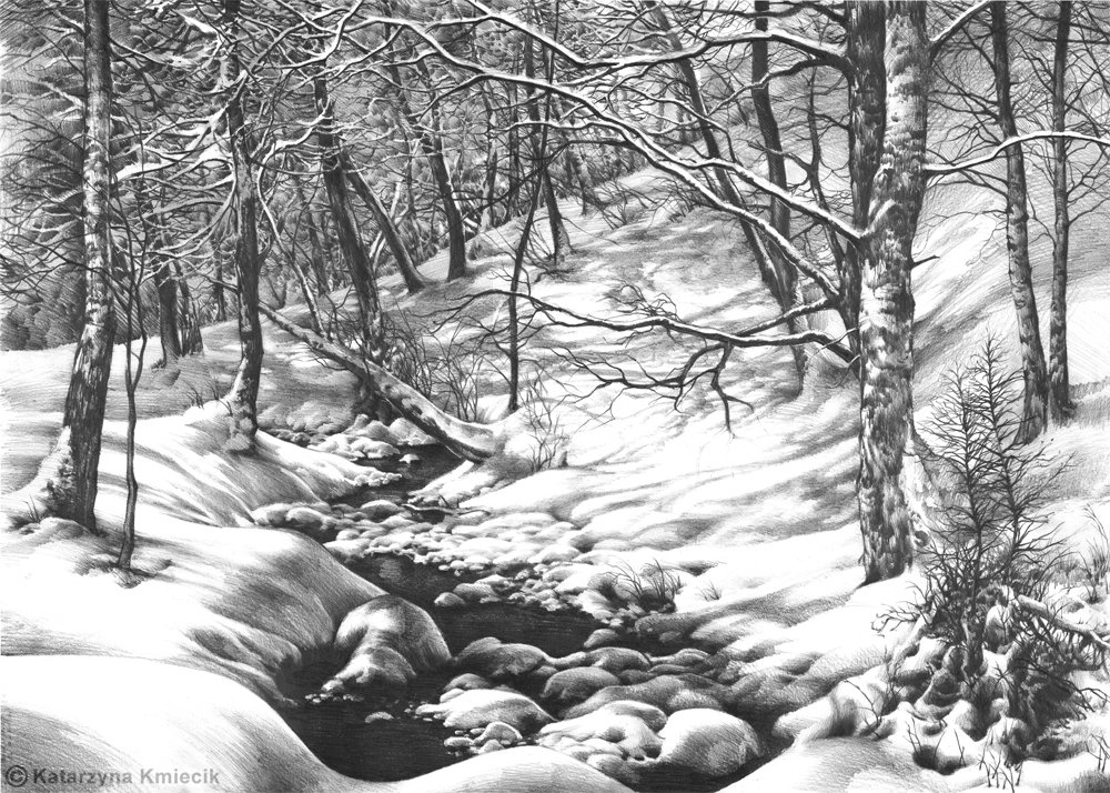 winter wonderland pencil
