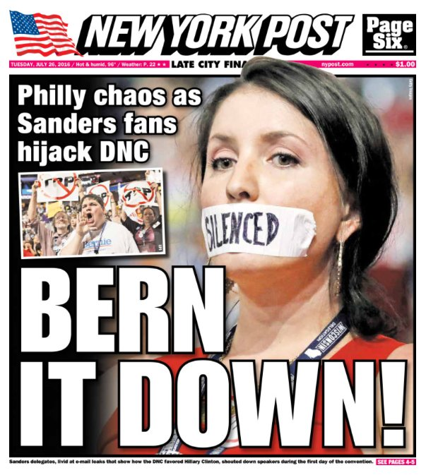 Today's cover: DNC disarray is the foreshadowing of a Clinton administration