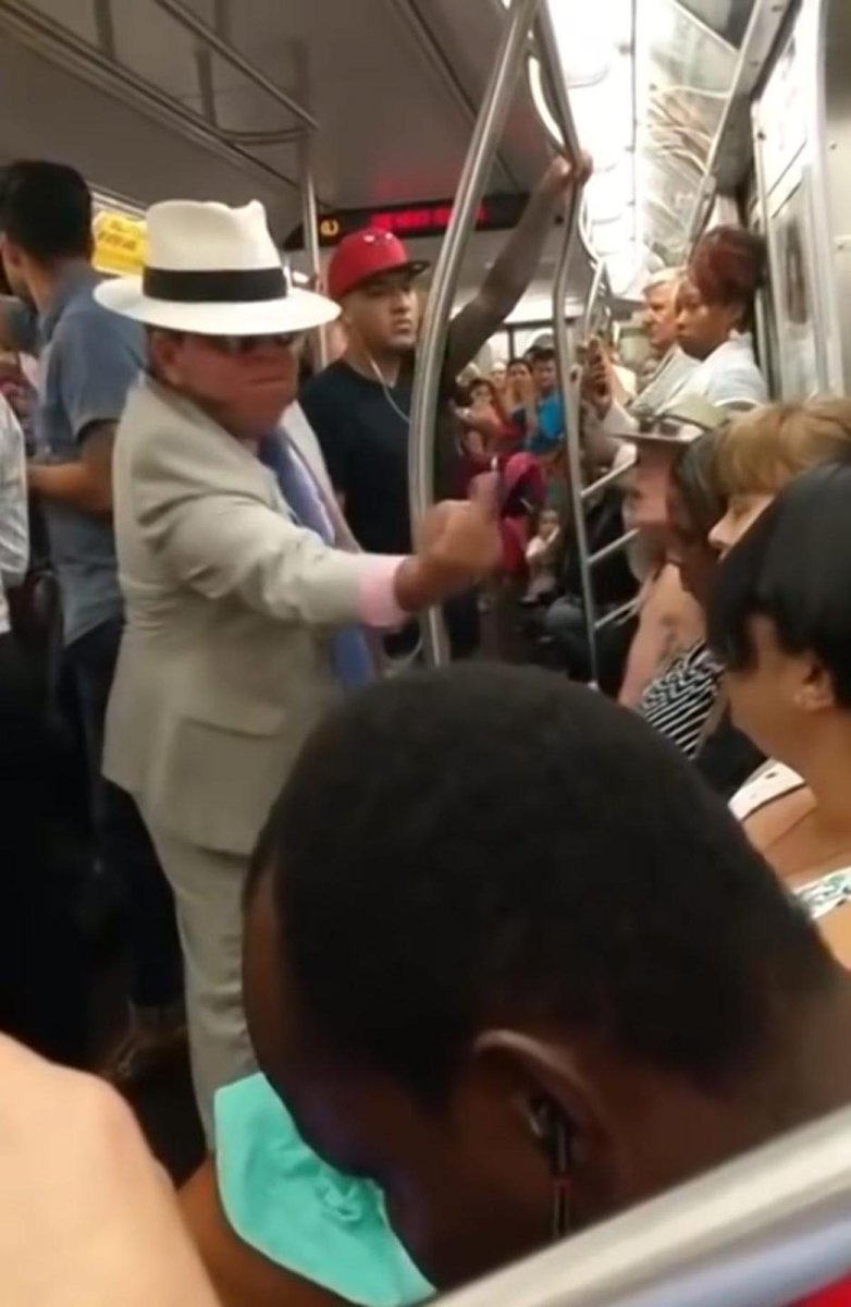 Trump supporter yells at a black woman on the subway in racist, sexist rant
