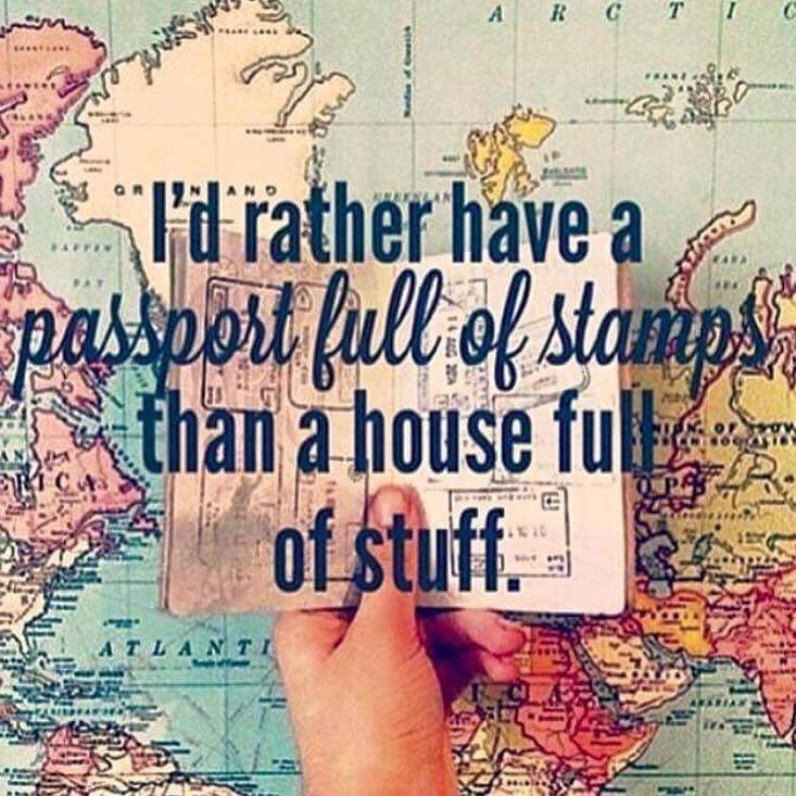 """I'd rather have a passport full of stamps than a house full of stuff"" #traveltheworld #travelbloggers https://t.co/rH0rDa1b0L"