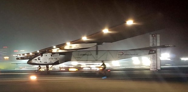 After 16 months and 16 stops, solar-powered plane finishes around-the-world trip.