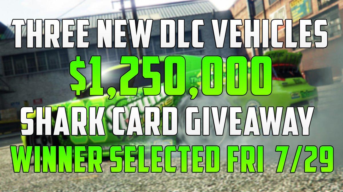 $1,250,000 Shark Card Giveaway For NEW #GTAOnline #GTAV