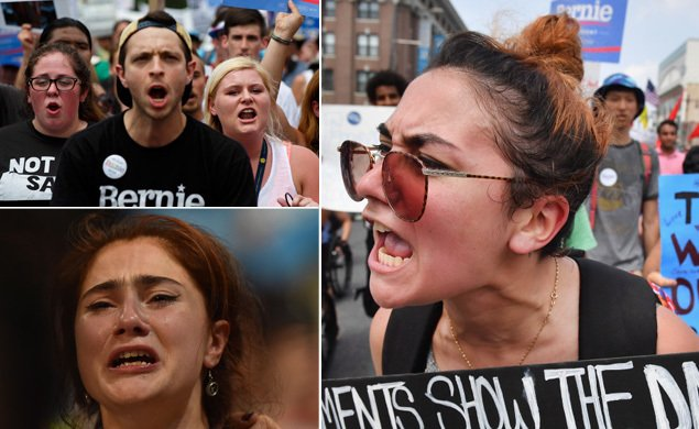 Emotions run high for Bernie Sanders supporters as DNCinPHL kicks off