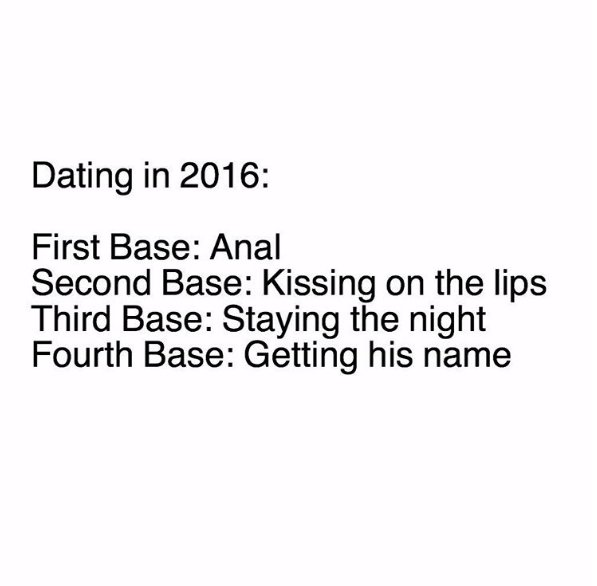 first second third fourth base dating