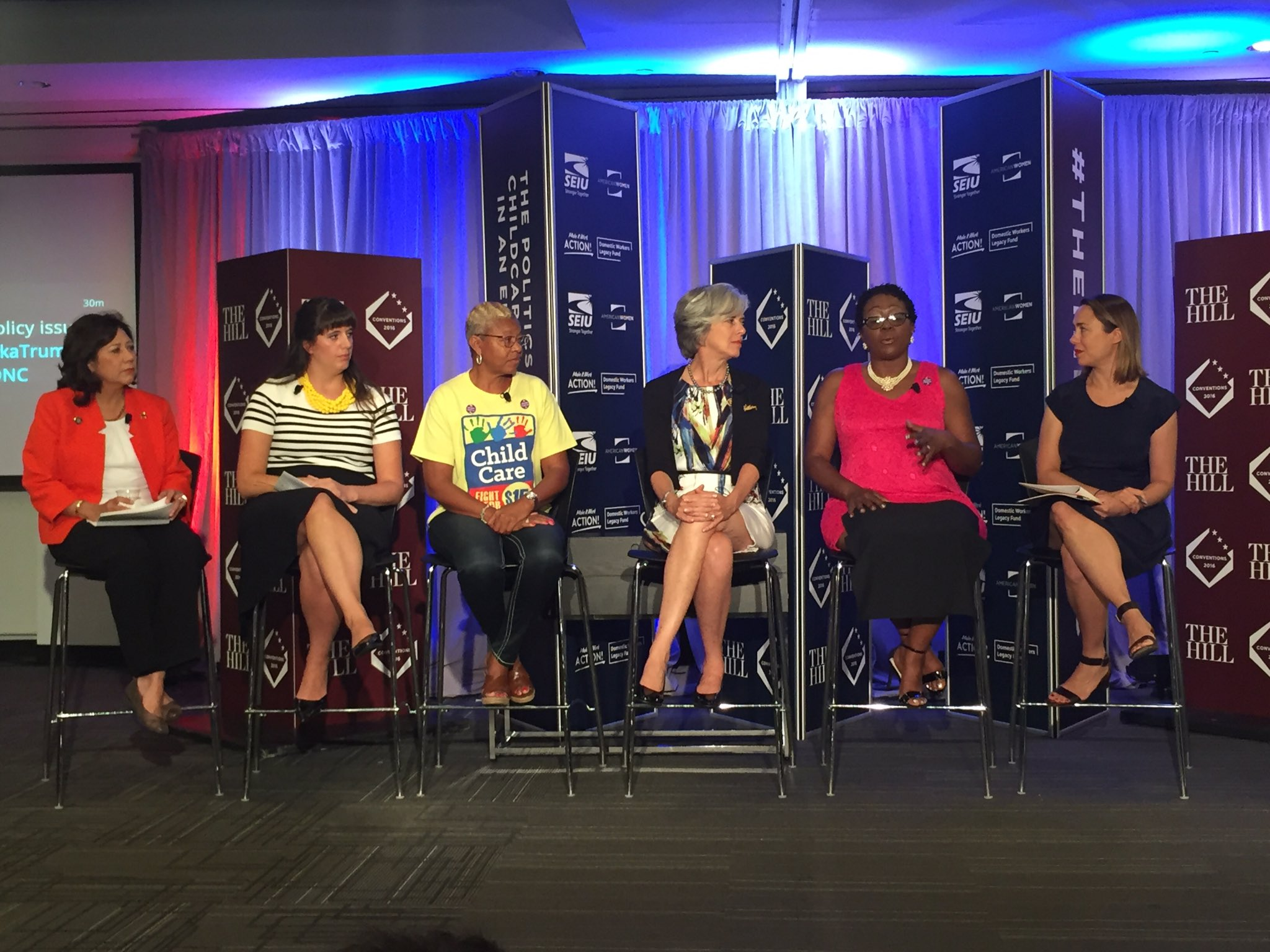 We're talking childcare & family issues this AM. Watch online: https://t.co/JRm6GOVZOe #TheHillatDNC #ChildcareDNC https://t.co/jXhP5XJAWk