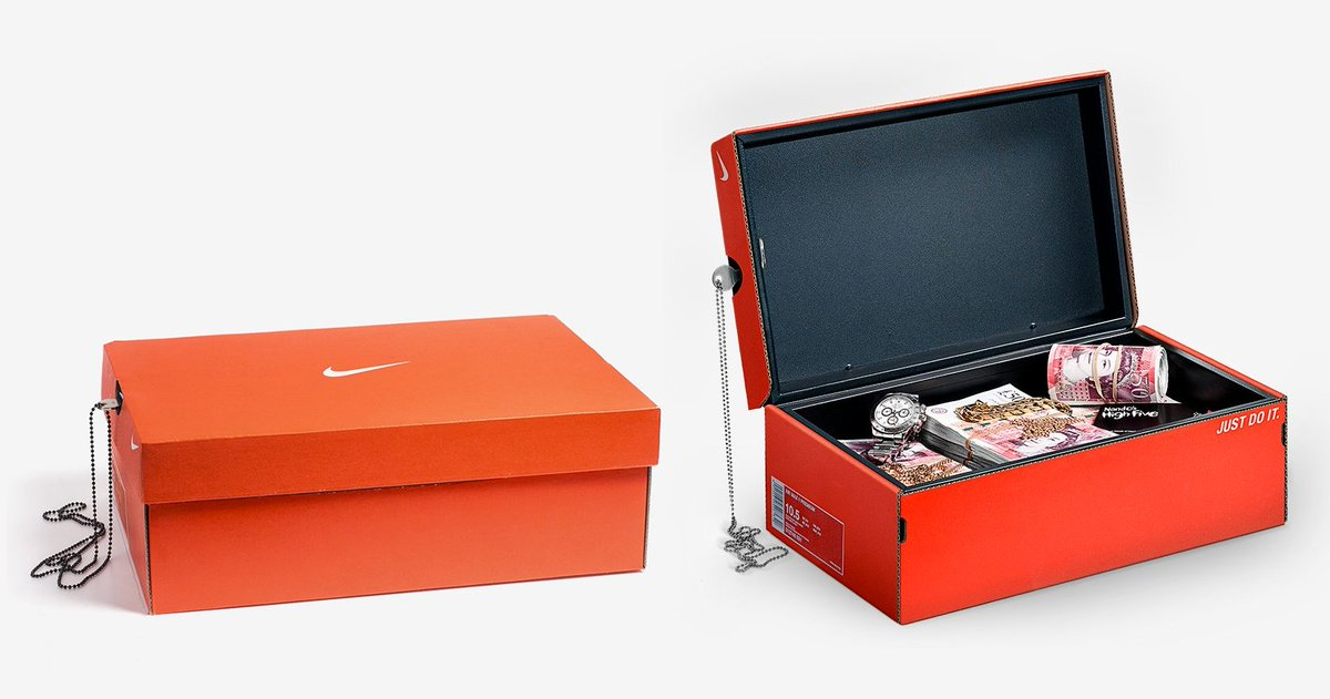 This Nike shoebox is actually a secret safe