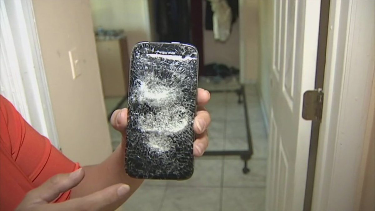 Phone explodes in woman's face, mattress goes up in flames