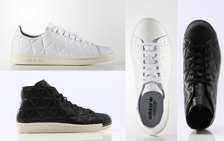 online store b602d 0d999 ... Stan Smith Vulc All-White 8 5発売!3Dの幾何柄を全体にあしらっているadidas ...
