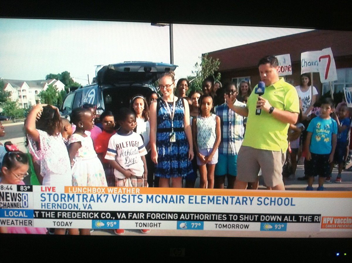 McNair Elementary On Twitter Kudos To Ms Paris For Organizing ABC 7s Visit This Morning Such A Fun Exp Students Mustangpride