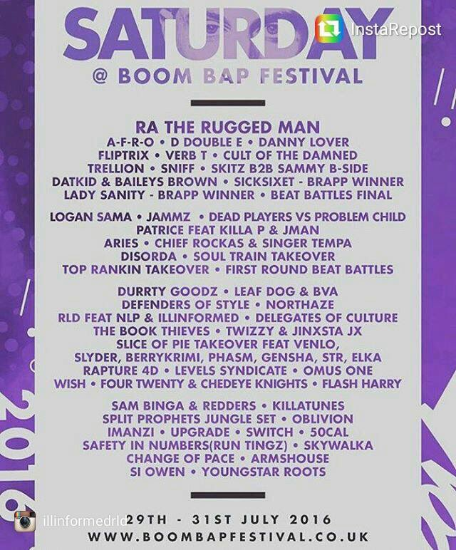 This Sat @BoomBapUK catch me & @DJSammyBSide playing b2b uk classics longside some special guests. Main stage @7.. https://t.co/ANeBMfgJKF