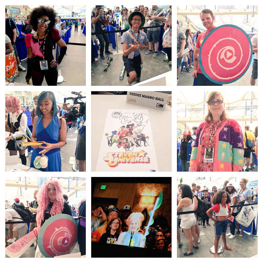 """Post #SDCC2016 Just a few of the awesome #StevenUniverse #cosplay we saw @Comic_Con this year!"""