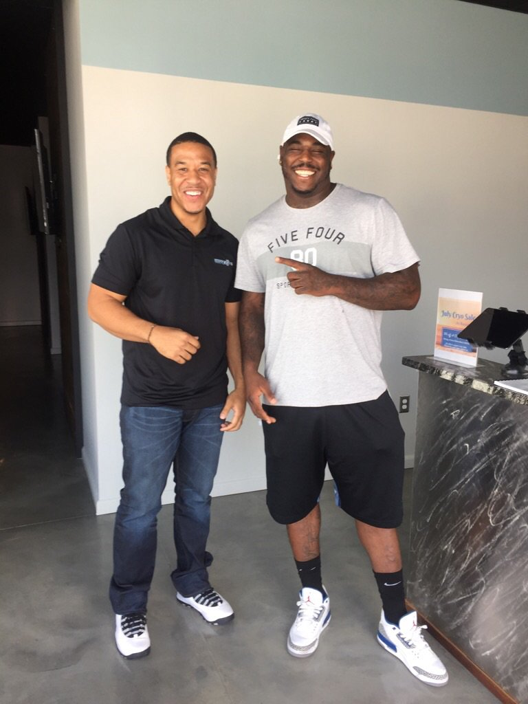 Big S/O to @TheMalikJackson for stopping by for some cryo recovery! #GoJags #JacksonvilleJaguars #JagNation