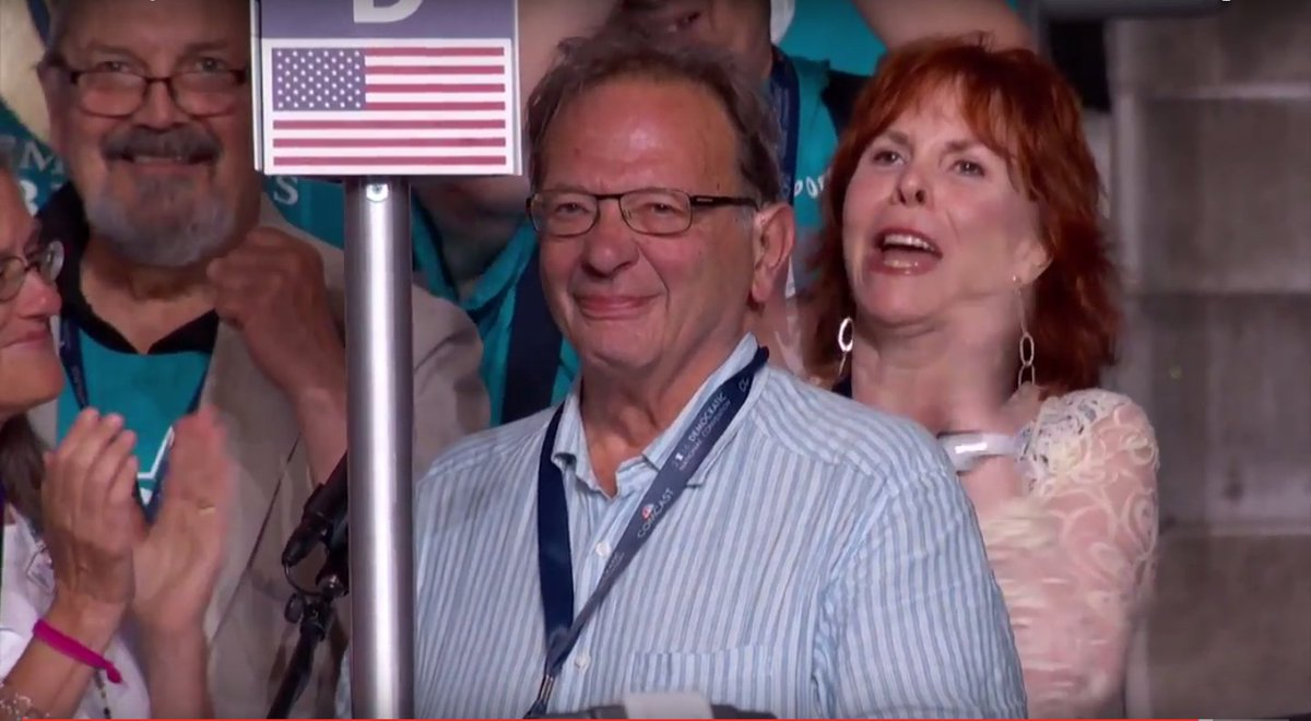 Larry Sanders emotionally casts his vote for little brother Bernie Sanders