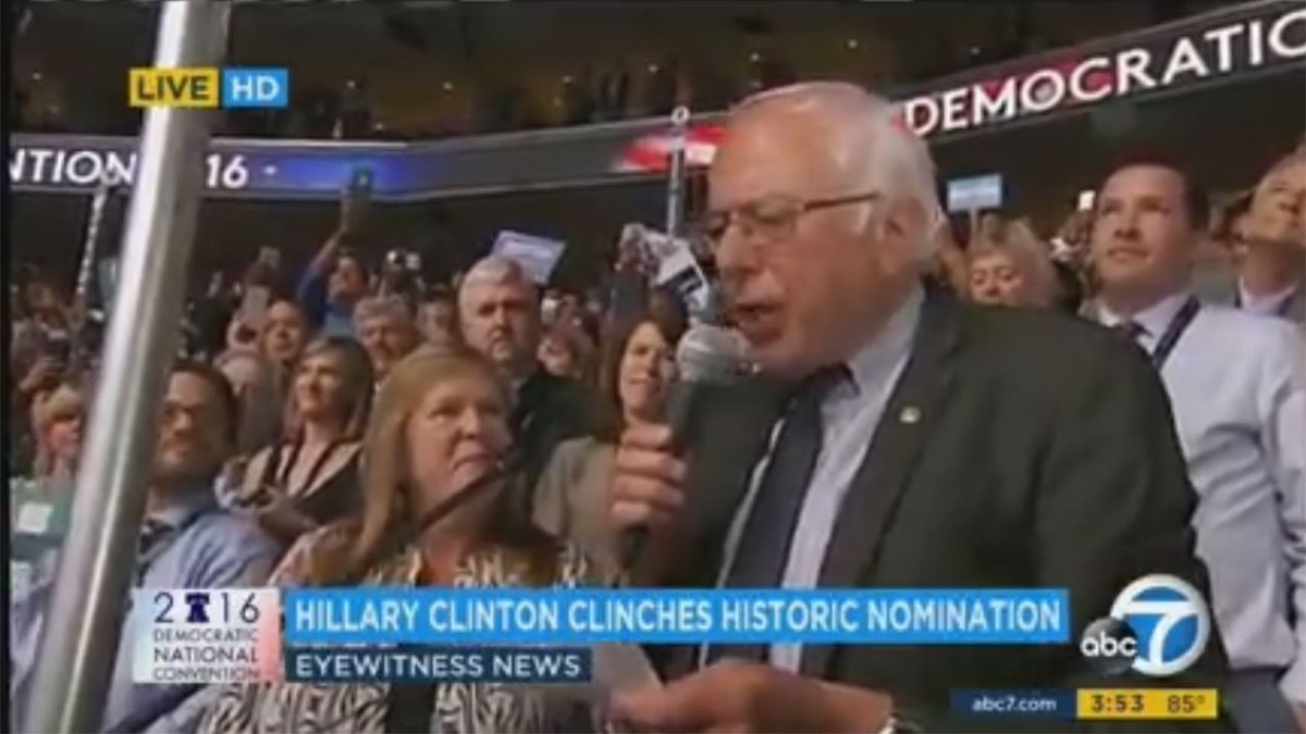 Bernie Sanders officially moves to make Hillary Clinton the Democratic nominee