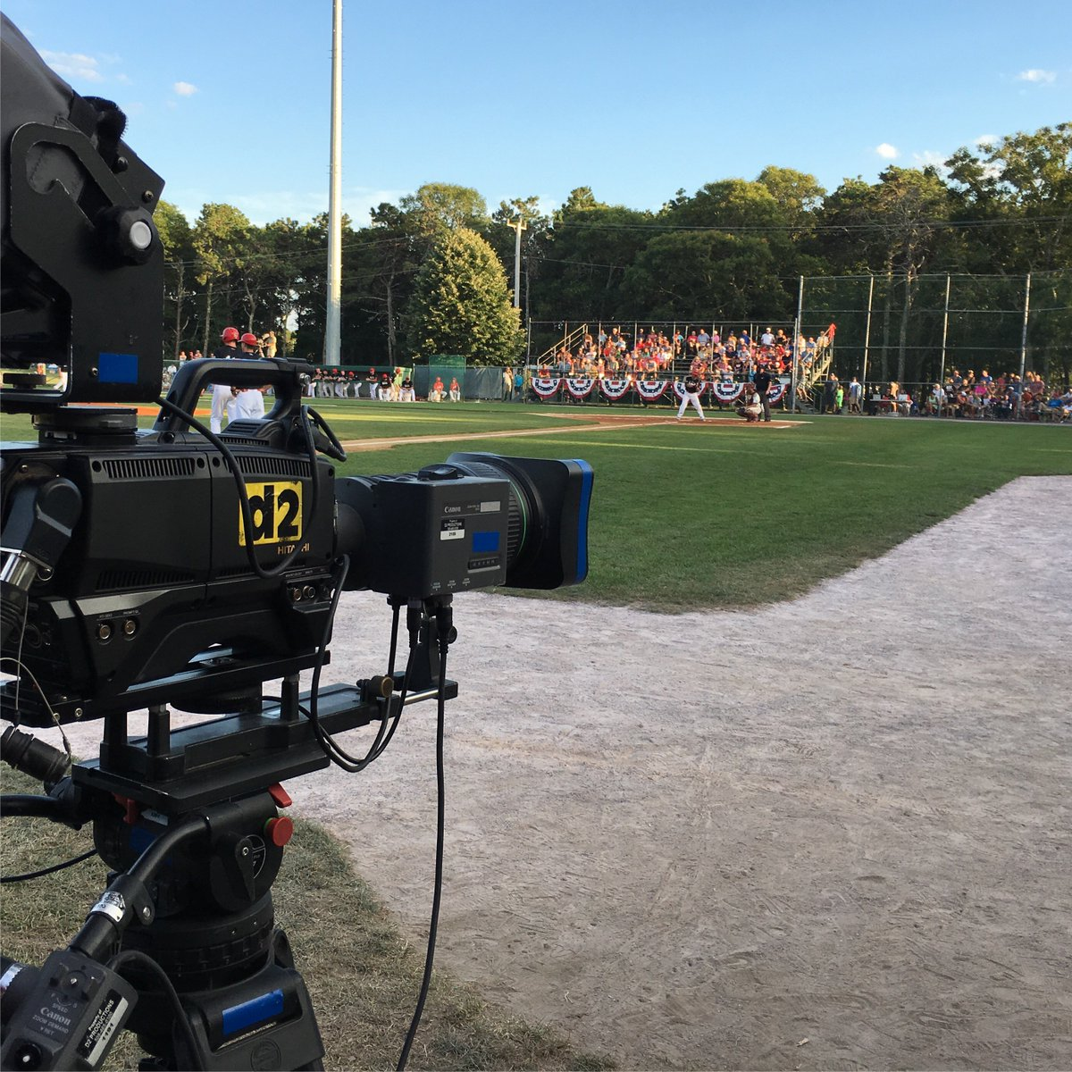 View from low 3rd @FirebirdsCCBL at @HarwichMariners. @ericfrede Ken Ryan @Megan_OBrien21 @GabbyTWCNews w/ the call