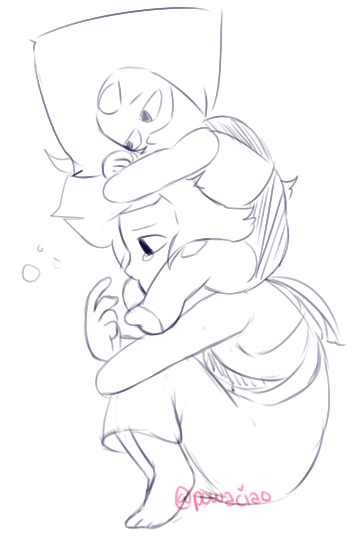 """Lapidot Comfort cuddles ♡ lil cheerup doodle for @aloezaki ily mom !!"""