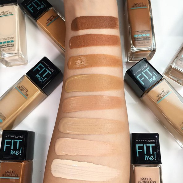 Fit Me Matte + Poreless Foundation by Maybelline #12