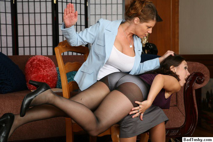Spanking women in pantyhose