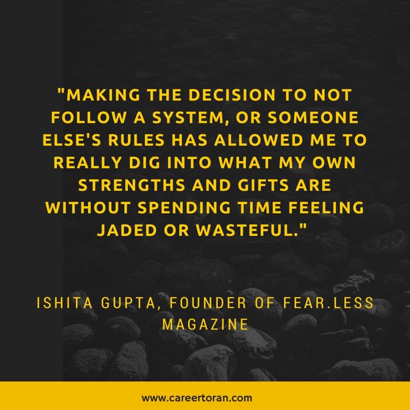 "Caibx Quote New Mia Liljeberg On Twitter ""ishita Gupta. Founder Of Fear.less"