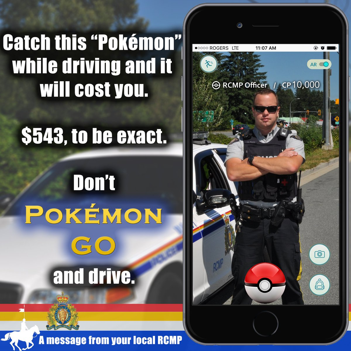 We are into catching different kind of character, one who is #distracteddriving. https://t.co/U7nnPFuHWJ