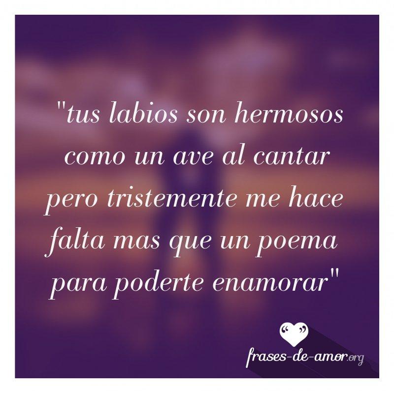 Frases De Amor On Twitter Tus Labios Son Hermosos Como Un Ave