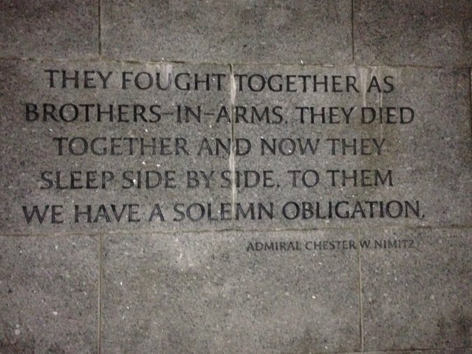 Last Full Measure of Devotion World War II Memorial @BRInstitute #FF2016 https://t.co/1THxe8zs39