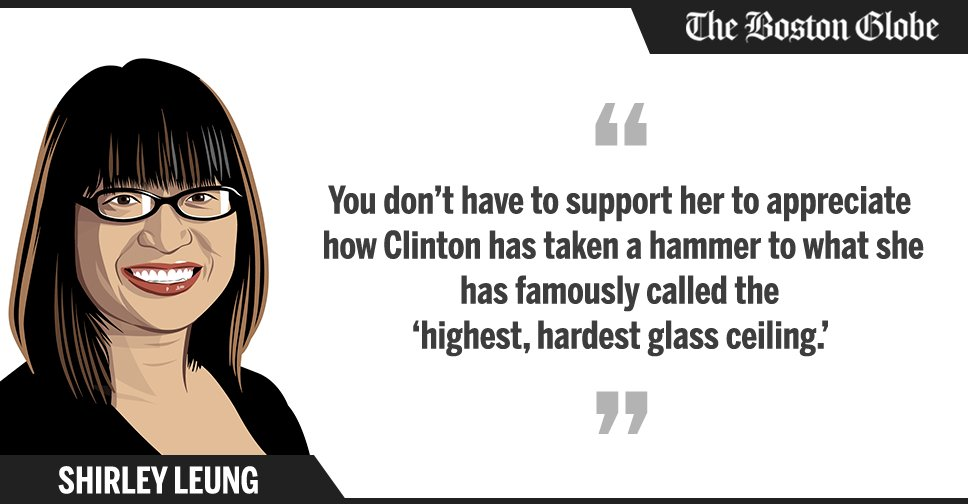 Globe columnist Shirley Leung comments on Hillary Clinton's nomination DemsinPhilly