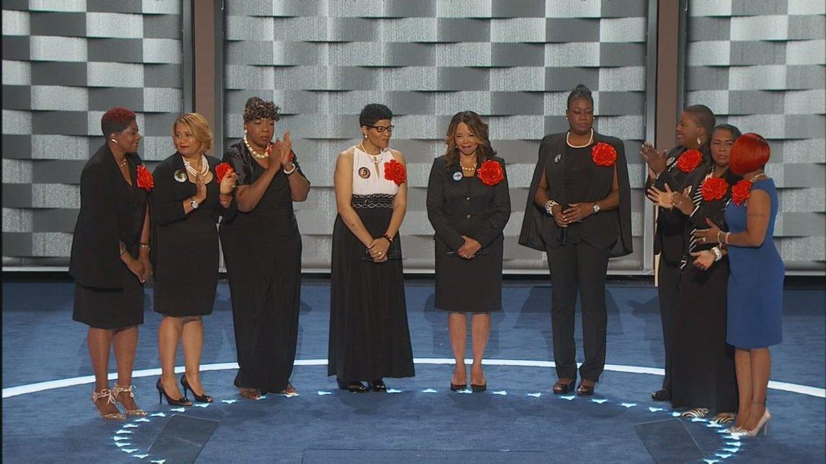 Moms who lost kids to violence take Dem stage.