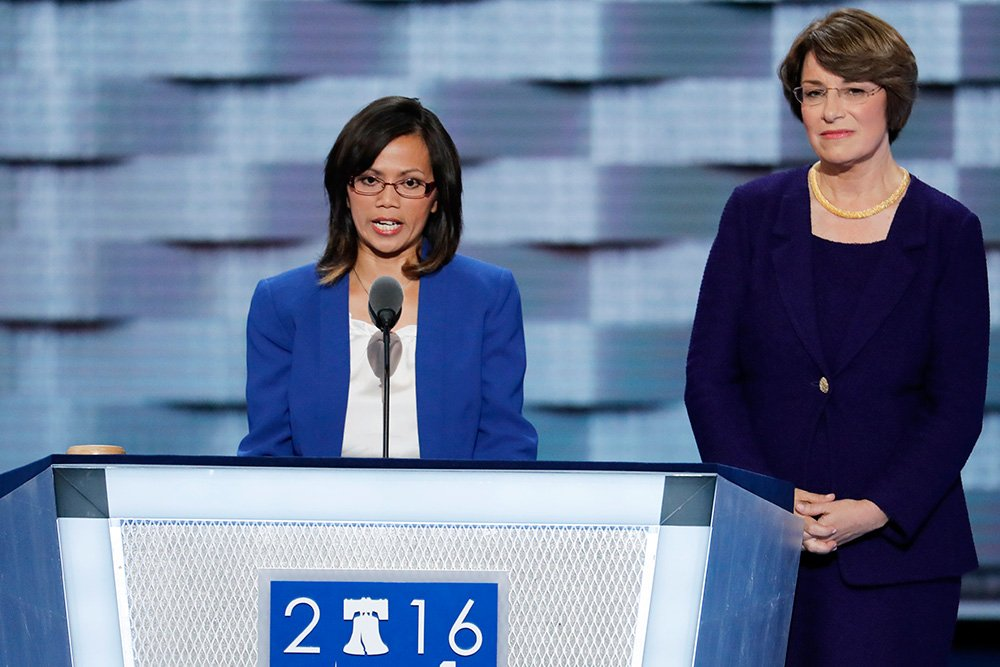 Lured to L.A. by human traffickers, human rights advocate Ima Matul tells her story at DNC