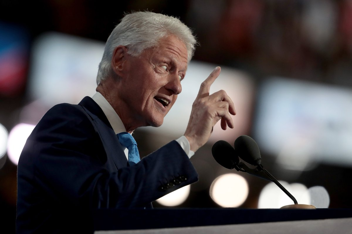 Bill Clinton weaves wife's personal and career feats in DNC speech