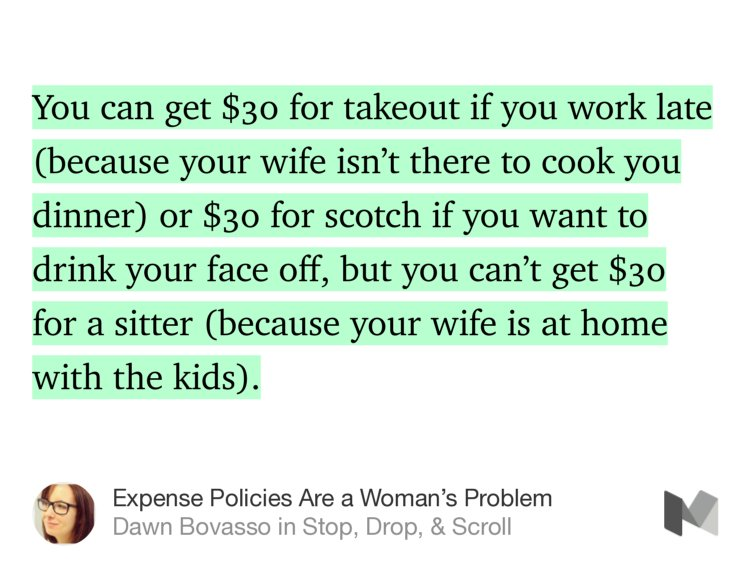"""You can get $30 for takeout if you work late (because your wife isn't…"" — Dawn Bovasso https://t.co/KurDlsAIP4 https://t.co/wiDsapLLji"