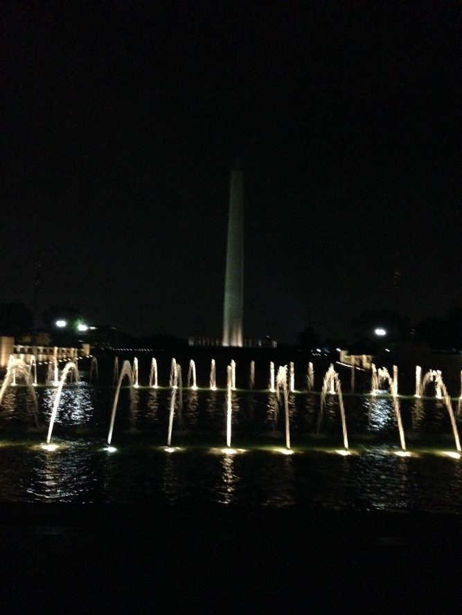 Washington Monument at night. @BRInstitute #FF2016 Monuments tour. https://t.co/2uMRNDLh0g